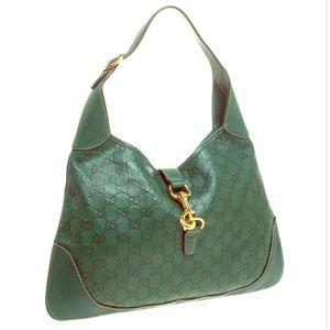 Gucci Jackie guccisima leather handbag green